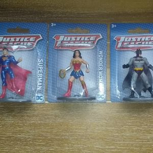 """Lot of 3 New Mini Collector's 3"""" Action Figures"""